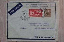 AB1 INDOCHINE   BELLE  LETTRE    1938 TONKIN SAIGON  POUR PRE ST GERVAIS   FRANCE  + AFFRANCH. PLAISANT - Briefe U. Dokumente