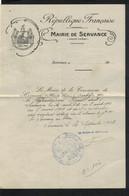 Servance - ( Haute-Saône ).( - Non Classés