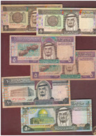 SAUDI ARABIA Saudita Rials Riyals Lotto 6 Banconote - Arabie Saoudite
