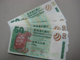 2003 Hong Kong SCB $50 UNC  Number Random   €6 / Sheet - Hong Kong