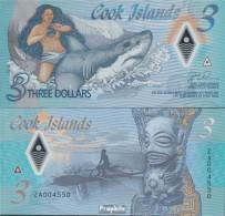 Cookinseln Pick-Nr: NEW Bankfrisch 2021 3 Dollars - Cook Islands