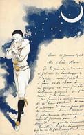 PIERROT -  1903 -  CARTE COLORISEE - Men