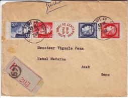 Ceres Et Gandon Bande N° 830 / 833 Obl Sur Lettre RECOMMANDEE 1949 .... TB+++ - 1921-1960: Période Moderne