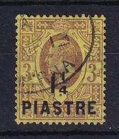 British Levant: 1910   Edward    SG22   1¼pi On 3d  Used - Levante Británica