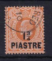British Levant: 1910   Edward    SG23   1¾pi On 4d   Pale Orange   Used - Levante Británica