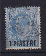 British Levant: 1911/13   Edward    SG26   1pi On 2½d   Bright Blue    [Perf: 15 X 14]   Used - Levante Británica