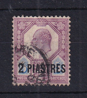 British Levant: 1911/13   Edward    SG30   2pi On 5d  Dull Reddish Purple & Bright Blue    Used - Levante Británica