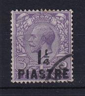 British Levant: 1913/14   KGV    SG37   1¼pi On 3d   Dull Reddish Violet     Used - Levante Británica