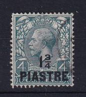 British Levant: 1913/14   KGV    SG38   1¾pi On 4d   Deep Grey Green     Used - Levante Británica