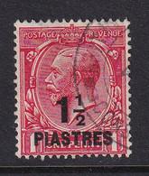 British Levant: 1921   KGV     SG42    1½pi On 1d  Bright Scarlet     Used - Levante Británica