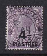 British Levant: 1921   KGV     SG44    4½pi On 3d  Violet     Used - Levante Británica