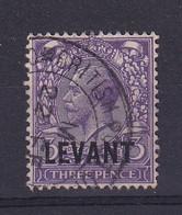 British Levant: 1921   KGV 'Levant' OVPT    SG L19    3d      Used - Levante Británica