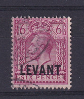 British Levant: 1921   KGV 'Levant' OVPT    SG L22a    6d   Reddish Purple   Used - Levante Británica