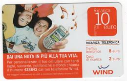 Ricarica WIND DAI UNA NOTA IN PIU' ALLA TUA VITA, Taglio 10,00 Euro, Scadenza 30/06/2010, Usata - [2] Sim Cards, Prepaid & Refills