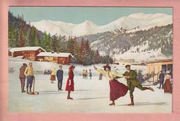 OLD POSTCARD - SWITZERLAND -       WINTERSPORT - SKATING   ST. MORITZ - SERIE XIII NO. 1054 - GR Grisons