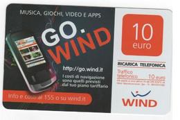 Ricarica WIND GO WIND MUSICA,GIOCHI,VIDEO E APPS, Taglio 10,00 Euro, Scadenza 30/06/2014, Usata - [2] Sim Cards, Prepaid & Refills