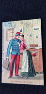 Cp Illustration LES ADIEUX A LA PAYSE  Militaire Femme Polichinelle Adr Henri GERARD Chez LEBOURGEOIS BOUCHER TOURNAN 77 - Humour