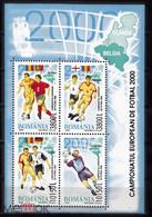 ROMANIA 2000 FOOTBALL EURO CUP S/SHEET - Fußball-Europameisterschaft (UEFA)