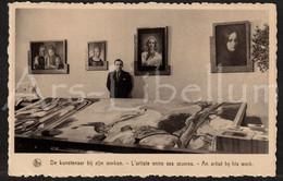 CPA / Postcard / Pierre Van Ransbeeck / Artist / Kunstenaar / Zandtapijt / Hekelgem / 2 Scans / Unused - Affligem