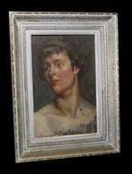 [DANSE CHOREGRAPHIE Huile Sur Panneau] Portrait De La Chorégraphe Violette Neerman. - Oleo