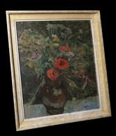 [FLEURS POST-EXPRESSIONNISME] DUPYTOUT (G.) - Bouquet De Fleurs Champêtres. - Oleo