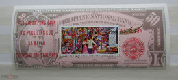 PHILIPPINES 1966 NATIONAL BANK BANKNOTE S/SHEET - Filippijnen