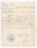 Convocation Devant Le JUGE DE PAIX DU CANTON DE MAILLEZAIS , Vendée , 1883 , 2 Scans , Cachet , Frais Fr 2.95 E En Suivi - Non Classés