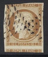 TIMBRE CÉRÈS N° 1 Avec UN GRAND VOISIN Et BELLE NUANCE BISTRE (VERSO SANS DÉFAUT) - 1849-1850 Ceres