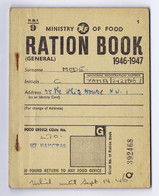 C12A) UK England  RATION BOOK WWII Grande Guerre 1946-1947 Munich Jew Family Migrant In London - Non Classés