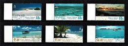 Pitcairn Islands 2005 Scenic Views - Ducie & Oeno Islands Marginal Set Of 6 MNH - Pitcairneilanden