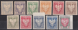 P_ Polen 1919 - Mi.Nr. 54 - 64 - Ungebraucht Unused - Unused Stamps