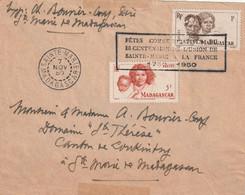 Madagascar Cachet Fêtes Commémoratives Bicentenaire Union Ste Marie à La France Cachet STE MARIE 7/11/1950 - Covers & Documents