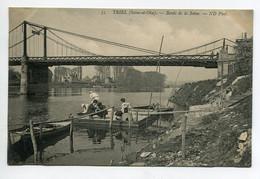 78 TRIEL Sur SEINE Les Pecheurs à La Ligne En Bords De Seine ND 35 1910    D14 2020 - Triel Sur Seine