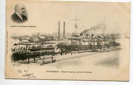 59 DUNKERQUE Port Ecluse Trystram Sortie Bateau De Guerre Pothuau 1903  Timbrée  D17 2020 - Dunkerque