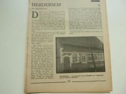 """Origineel Knipsel ( 4863 ) Uit Tijdschrift """" Toerisme """" 1936 :    Herdersem  Affligem  Alfons De Cock  8 Blz - Non Classés"""