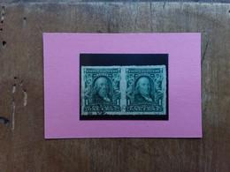 U.S.A. 1902 - B. Franklin - 1 C. - Coppia Non Dentellati - Timbrati + Spese Postali - Gebraucht
