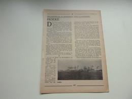 """Origineel Knipsel ( 4866 ) Uit Tijdschrift """" Toerisme """" 1936 :   Hoeke  Oostkerke - Non Classés"""