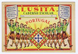 C13) Portugal LUSITO E LUSITA Caderno Escolar Folhas Pautadas Propaganda Nacional Não Usados - Non Classés