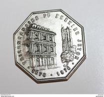 """Jeton Bronze Argenté """"Tricentenaire Du Premier Jeton 1676-1976 - Compagnie Des Notaires Paris"""" - Professionals / Firms"""