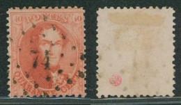 """Médaillon Dentelé - N°16 Obl Pt 74 (Lp 74) """"Celles"""". COBA : 125 ! Superbe / Collection Spécialisée. - 1863-1864 Medaillen (13/16)"""