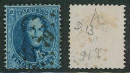 """Médaillon Dentelé - N°15 Obl Pt 79 (Lp 79) """"Chaudfontaine"""" / Collection Spécialisée. - 1863-1864 Medaillen (13/16)"""