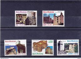 SAINT MARIN 1999 ARCHITECTURE DU MONTEFELTRE Yvert 1650-1654 NEUF** MNH - Neufs