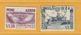 Timbre Perou Poste Aérienne N° PA 107 - PA 108 - Perú