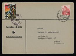 TREASURE HUNT [02166] Switzerland 1939 Cover Sent To Zürich Bearing 20rp Stamp +Swiss Soldier`s Stamp, Special Pmk. - Briefe U. Dokumente