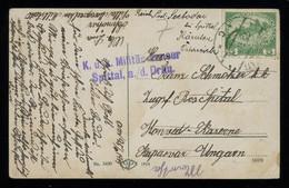 TREASURE HUNT [02195] Austria 1915 Picture Post Card Sent To Kaposvár, Hungary Bearing 5h Single Franking, Cens. - Storia Postale