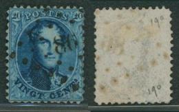 """Médaillon Dentelé - N°15 Obl Pt 86 (Lp 86) """"Contich"""" / Collection Spécialisée. - 1863-1864 Medaillen (13/16)"""