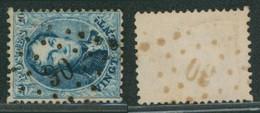 """Médaillon Dentelé -n°15 Obl Pt 90 (Lp 90) """"Cruyshautem"""". COBA : 40, TB/ Collection Spécialisée. - 1863-1864 Medaillen (13/16)"""
