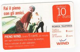Ricarica WIND FAI IL PIENO DI AMICI, Taglio 10,0 Euro, Scadenza 31-12-2009, PUBLICENTER,usata - [2] Sim Cards, Prepaid & Refills