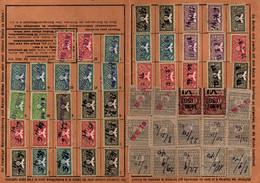Lot De 7 Cartes De Quittance TIMBRES FISCAUX / SOCIO-POSTAUX / ALSACE LORRAINE - Revenue Stamps