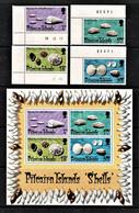Pitcairn Islands 1974 Shells Set Of 4 + Minisheet MNH - Pitcairneilanden